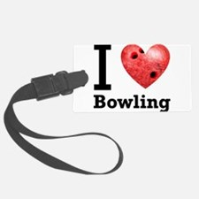 i-love-bowling-light-tee-pic.png Luggage Tag