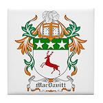 MacDavitt Coat of Arms Tile Coaster