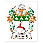 MacDavitt Coat of Arms Small Poster