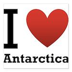 i-love-antartica-light-tee.png Square Car Magnet 3