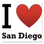 i-love-san-diego.png Square Car Magnet 3