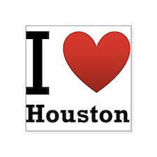 """i-love-houston.png Square Sticker 3"""" x 3"""""""
