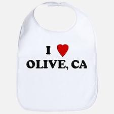 I Love OLIVE Bib