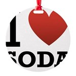 i-love-soda.png Round Ornament