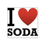 i-love-soda.png Square Sticker 3