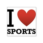I Love Sports Square Sticker 3