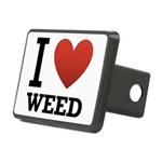 i-love-weed.png Rectangular Hitch Cover