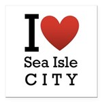 sea isle city rectangle.png Square Car Magnet 3