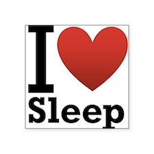 "I love Sleep Square Sticker 3"" x 3"""