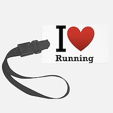 I Love Running Luggage Tag