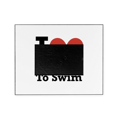 I love to swim Picture Frame