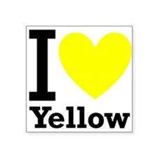 """iheart yellow.png Square Sticker 3"""" x 3"""""""
