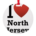 i love north jersey.png Round Ornament