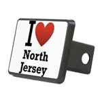 i love north jersey.png Rectangular Hitch Cover