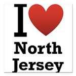 i love north jersey.png Square Car Magnet 3