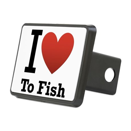 I love to rectangular hitch cover by teesbytom for Fish hitch cover