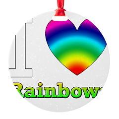 I love Rain Bows Ornament