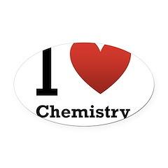 i-love-chemistry.png Oval Car Magnet
