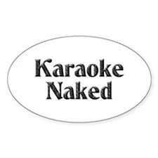 Karaoke Naked Oval Decal