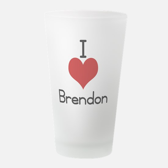 brendon.jpg Frosted Drinking Glass