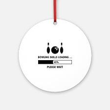 Bowling Skills Loading Ornament (Round)
