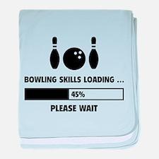 Bowling Skills Loading baby blanket