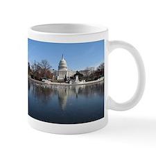 US Capitol Building Winter Photo Mug
