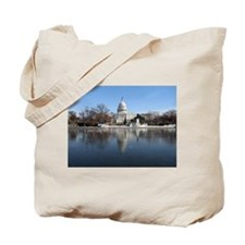 US Capitol Building Winter Photo Tote Bag