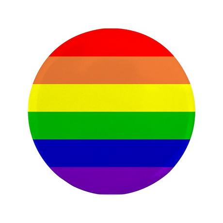 """Rainbow Flag 3.5"""" Button"""