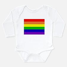 Rainbow Flag Long Sleeve Infant Bodysuit