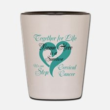 Cervical Cancer Survivor Shot Glass