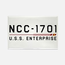 USS Enterprise Original Dark Rectangle Magnet