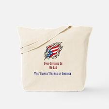 Torn Flag Tote Bag