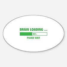 Brain Loading Sticker (Oval)