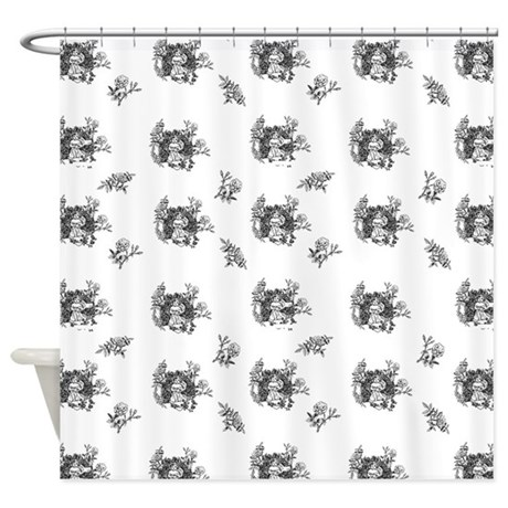 Black And White Toile Curtains Black and White Toile Wallpaper