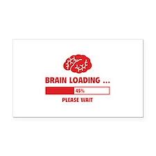 Brain Loading Rectangle Car Magnet