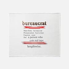 Bureaucracy Defined Throw Blanket