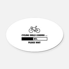 Cycling Skills Loading Oval Car Magnet