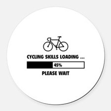 Cycling Skills Loading Round Car Magnet