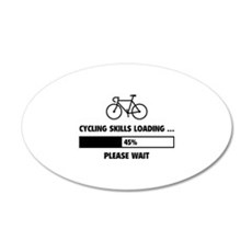 Cycling Skills Loading 22x14 Oval Wall Peel