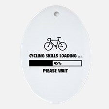 Cycling Skills Loading Ornament (Oval)