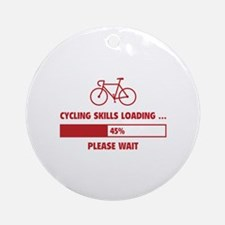 Cycling Skills Loading Ornament (Round)
