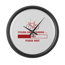 Cycling Skills Loading Large Wall Clock