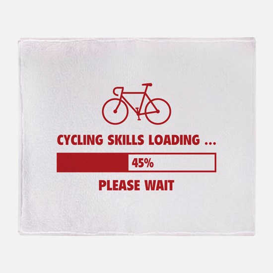 Cycling Skills Loading Throw Blanket