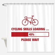 Cycling Skills Loading Shower Curtain