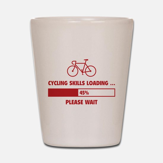 Cycling Skills Loading Shot Glass