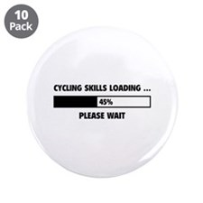 """Cycling Skills Loading 3.5"""" Button (10 pack)"""