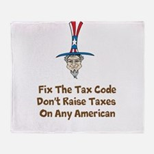 Uncle Sam Tax Code Throw Blanket