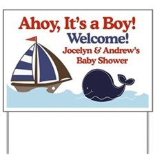 Ships Ahoy Its a boy Sign Yard Sign