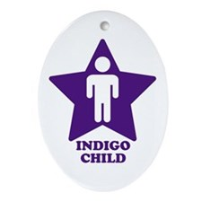 Indigo Child Oval Ornament